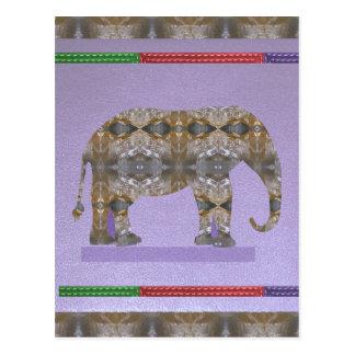 Cartão Postal Baleia animal do pássaro dos peixes do elefante do
