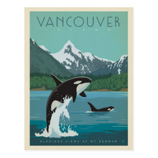 Cartão Postal Baleias de assassino da ilha de Vancôver  