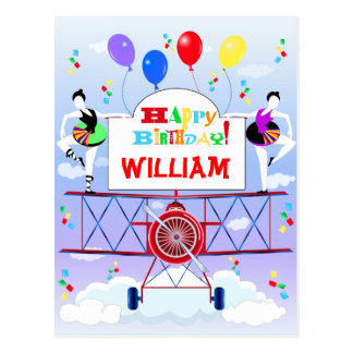 Cartão Postal Balões das acrobatas do aviador de Airshow do