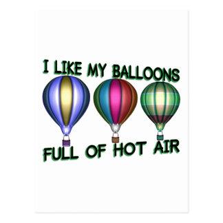 Cartão Postal Balões de ar quente