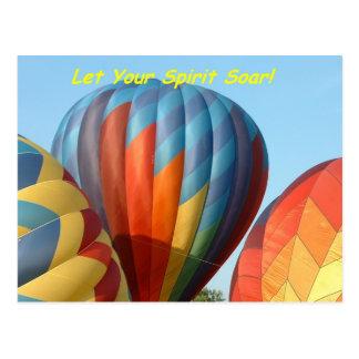 Cartão Postal Balões!  Deixe seu espírito subir!
