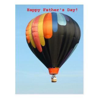 Cartão Postal Balões, dia dos pais feliz!
