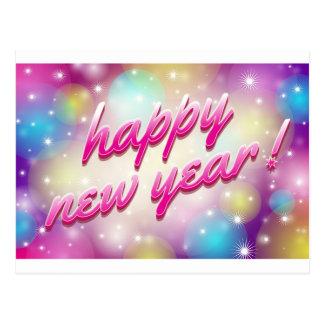 Cartão Postal Balões do feliz ano novo