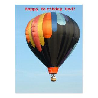 Cartão Postal Balões, pai do feliz aniversario!