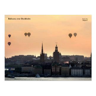 Cartão Postal Balões sobre Éstocolmo