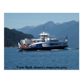 Cartão Postal Balsa do lago Kootenay, Columbia Britânica