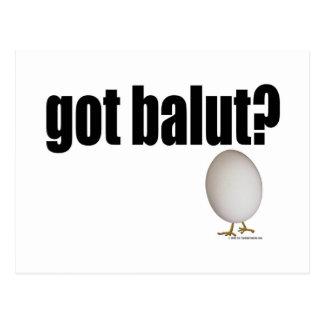 Cartão Postal Balut obtido?