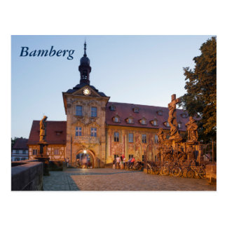 Cartão Postal Bamberga na ponte de Obere