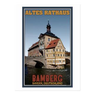 Cartão Postal Bamberga - retrato de Altes Rathaus