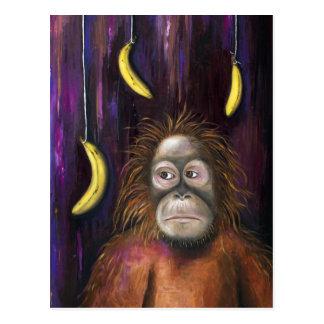 Cartão Postal Bananas indo!
