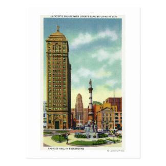 Cartão Postal Banco Bldg da liberdade, câmara municipal
