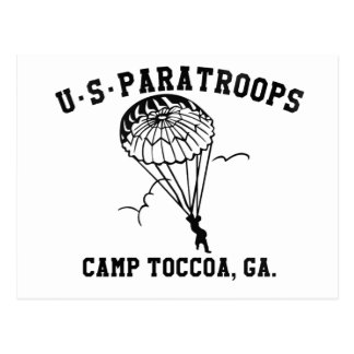 Cartão Postal Band of Brothers Currahee US Paratrooper Toccoa