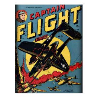 Cartão Postal Banda desenhada da época dourada do capitão Vôo