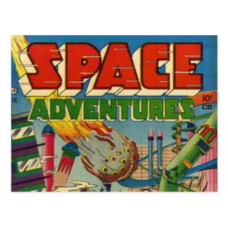 Cartão Postal Banda desenhada dos aventureiros do espaço