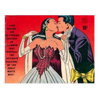 Cartão Postal Banda desenhada dos romances de Broadway