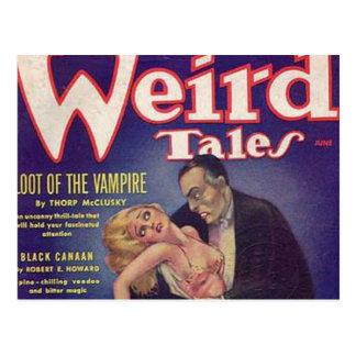 Cartão Postal Banda desenhada estranha do vampiro dos contos