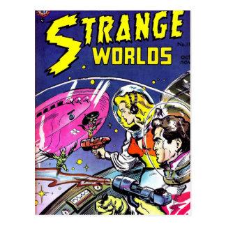 Cartão Postal Banda desenhada estranha dos mundos