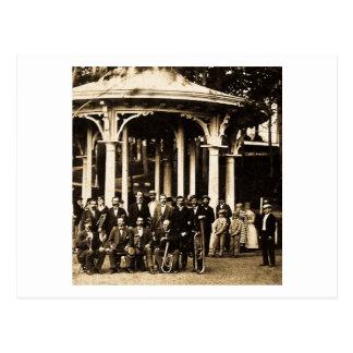 Cartão Postal Banda filarmónica em Saratoga Springs, 1860s de
