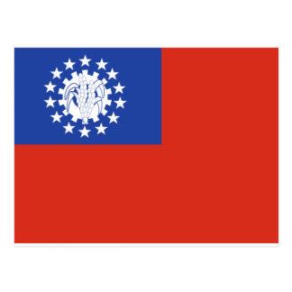 Cartão Postal Bandeira 1974-2010 de Myanmar