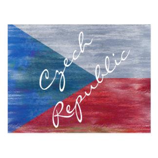 Cartão Postal Bandeira afligida da república checa