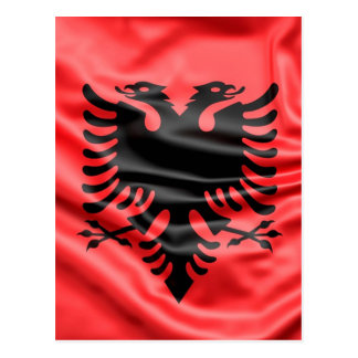 Cartão Postal Bandeira albanesa