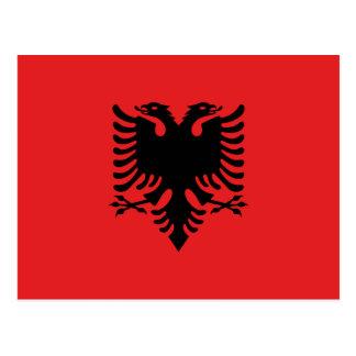 Cartão Postal Bandeira albanesa patriótica