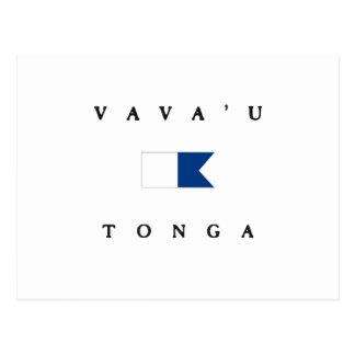 Cartão Postal Bandeira alfa do mergulho de Vava'u Tonga