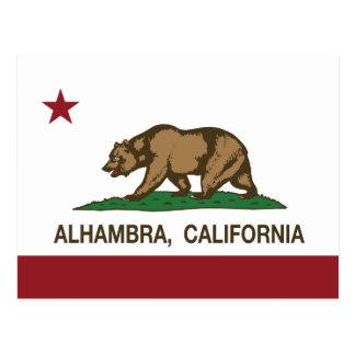Cartão Postal Bandeira Alhambra do estado de Califórnia