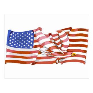 Cartão Postal Bandeira americana