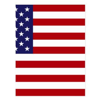 Cartão Postal Bandeira americana - bandeira dos Estados Unidos -