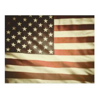 Cartão Postal Bandeira americana da granja