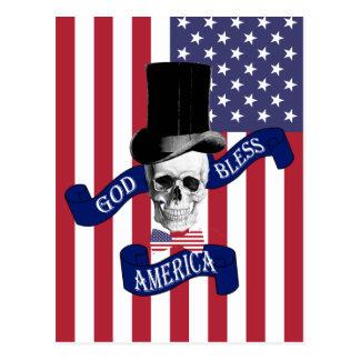 Cartão Postal Bandeira americana patriótica
