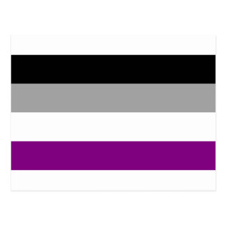 Cartão Postal Bandeira assexuada do orgulho
