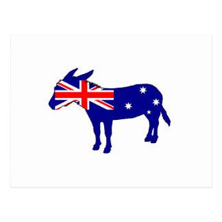 Cartão Postal Bandeira australiana - asno