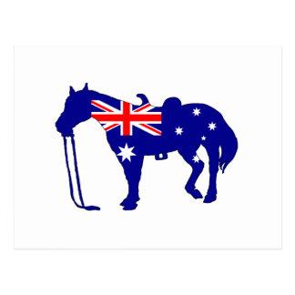 Cartão Postal Bandeira australiana - cavalo