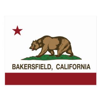 Cartão Postal Bandeira Bakersfield do estado de Califórnia