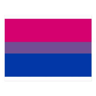 Cartão Postal Bandeira bissexual do arco-íris do orgulho de LGBT