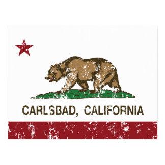 Cartão Postal Bandeira Carlsbad do estado de Califórnia