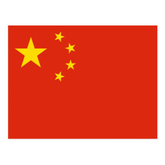 Cartão Postal Bandeira chinesa