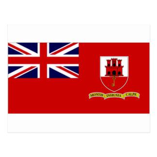 Cartão Postal Bandeira civil de Gibraltar