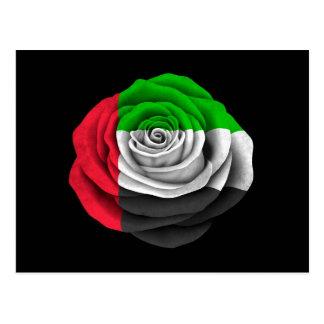 Cartão Postal Bandeira cor-de-rosa de United Arab Emirates no