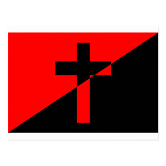 Cartão Postal Bandeira cristã da cristandade da anarquia do