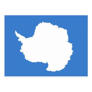 Cartão Postal Bandeira da Antártica