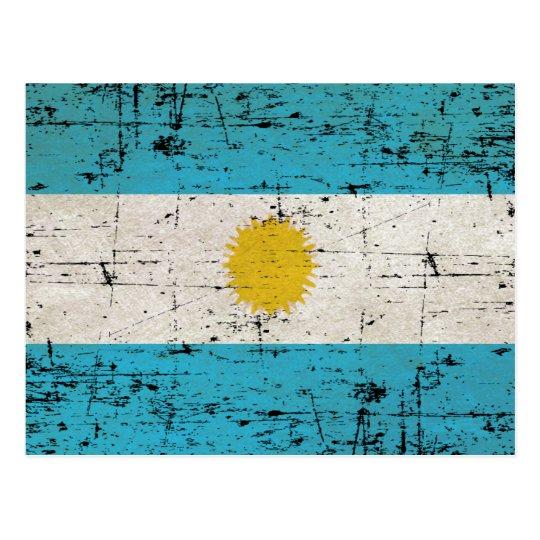 Cartão Postal Bandeira da Argentina