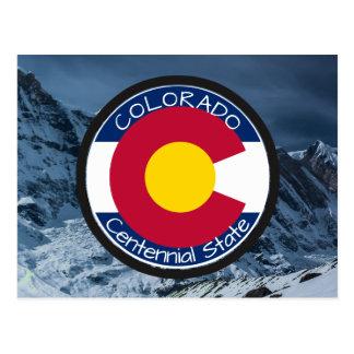 Cartão Postal Bandeira da circular de Colorado