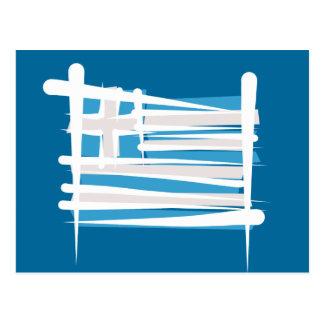 Cartão Postal Bandeira da escova da piscina