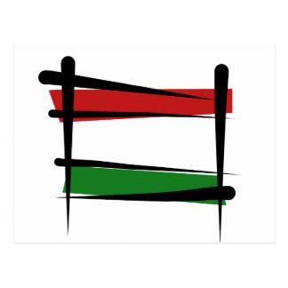 Cartão Postal Bandeira da escova de Hungria