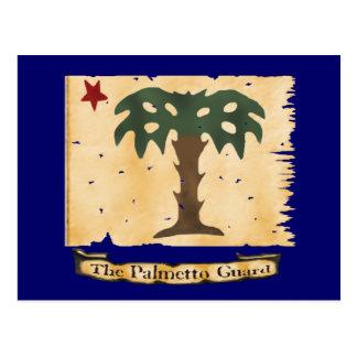 Cartão Postal Bandeira da guarda do Palmetto