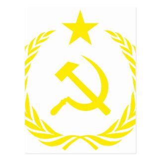 Cartão Postal Bandeira da guerra fria de Communiste
