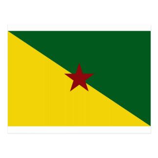 Cartão Postal Bandeira da Guiana Francesa